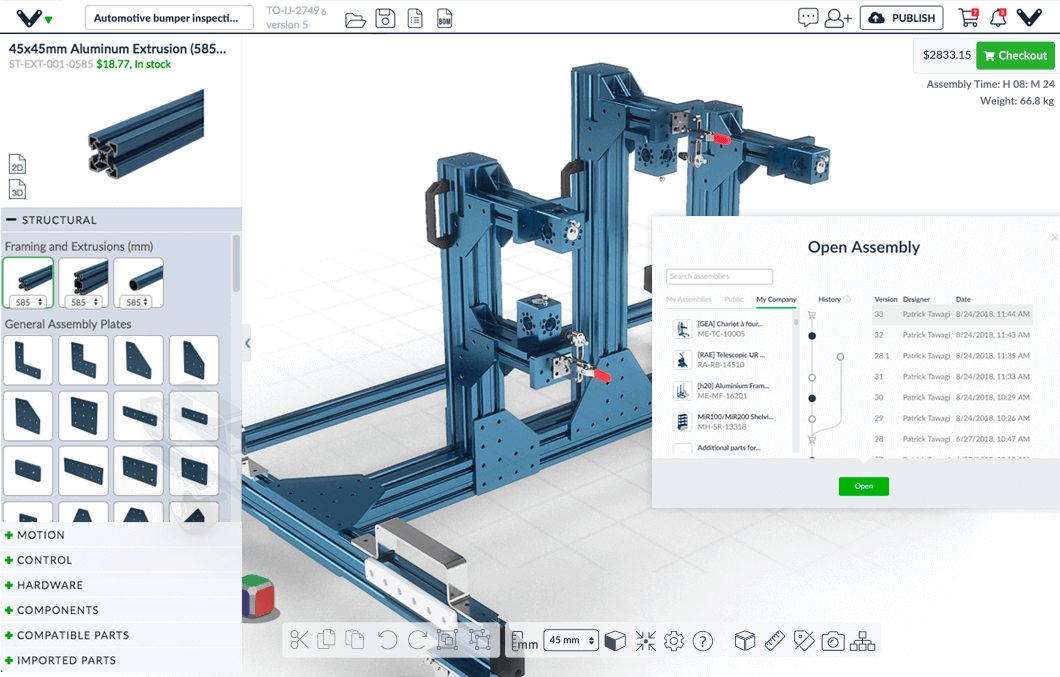 Vention Machine Builder preview